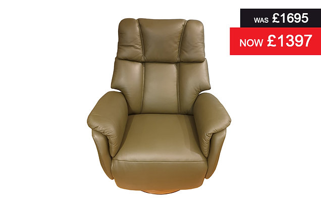 Icklesham Large Swivel Power Recliner Chair - Hunter Semi Aniline Hide