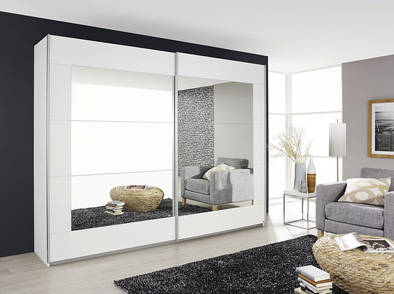 Collection 11 Sliding Door 181cm Wardrobe – with White Picture Frame