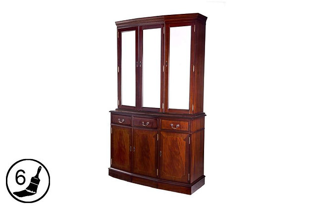 Simply Classical 4ft Cantered Display Cabinet