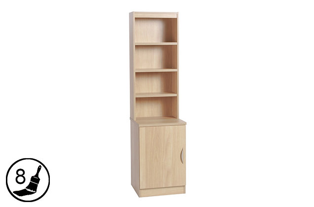 R White B-C48-OC – Cupboard with Hutch (480mm Wide)