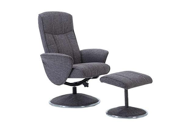 Verona Swivel Recliner Chair & Footstool