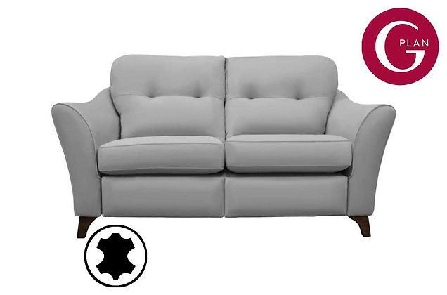 G Plan Hatton Leather 2 Seater Standard Back Sofa