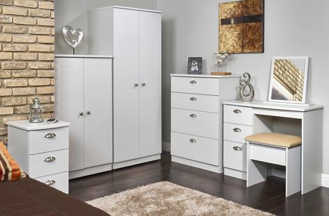 Wimborne Bedroom Furniture Range in Grey Matt