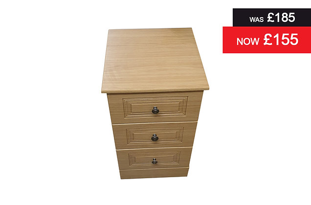 Toledo 3 Drawer Bedside Chest