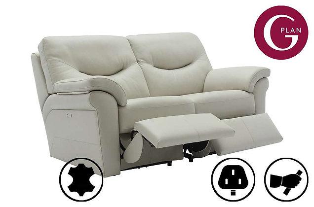 G Plan Washington Leather 2 Seater Double Recliner Sofa