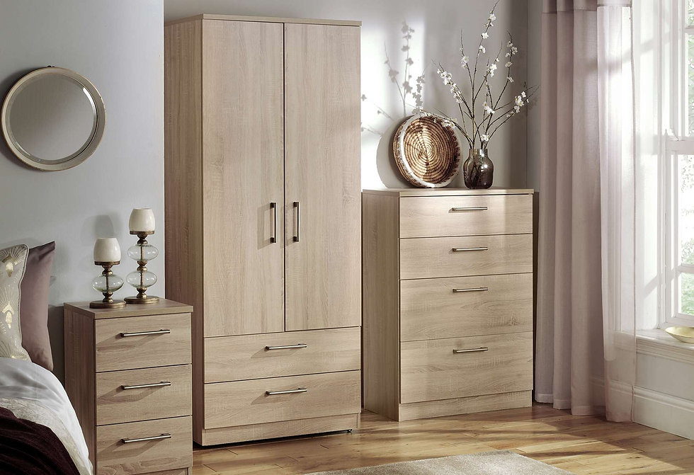 Sky Bedroom Furniture - Wardrobes, Chest of Drawers, Bedside Cabinets, Dressing Tables, Stool and Mirrors