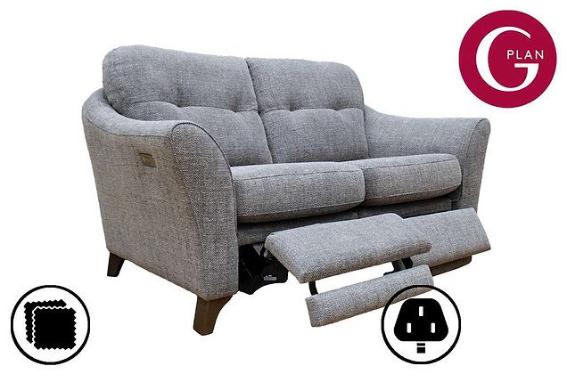 G Plan Hatton 2 Seater Standard Back Sofa With Power Foot Rest