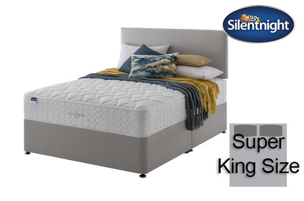 Silentnight Miracoil Sage Eco Comfort Super King Size Divan Bed