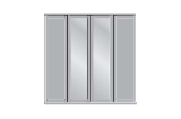 Cambridge 4 Door Mirrored Wardrobe