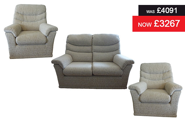 G Plan Malvern 2 Seater Sofa plus 2 Chairs - Genesis Putty