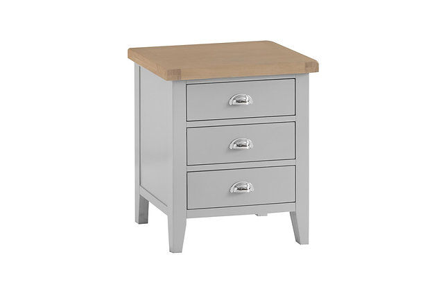 Country Wide 3 Drawer Bedside (Ferndown Grey)