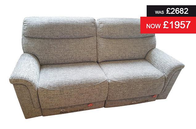 G Plan Harrison 3 Seater Double Power Recliner Sofa - Sorrento Slate