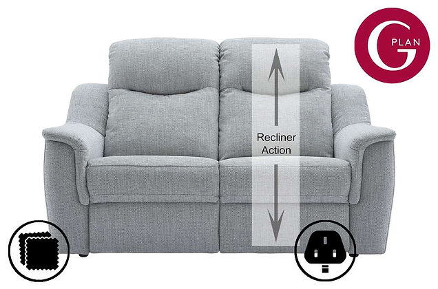 G Plan Firth 2 Seater Single Power Recliner Sofa (Right Hand Facing)