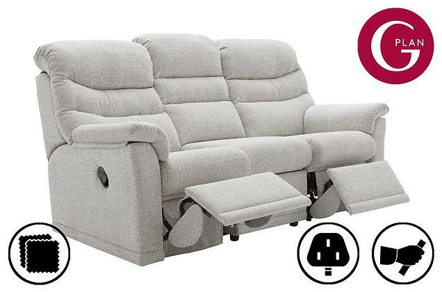 G Plan Malvern Double 3 Seater (3 Cushion) Recliner Sofa