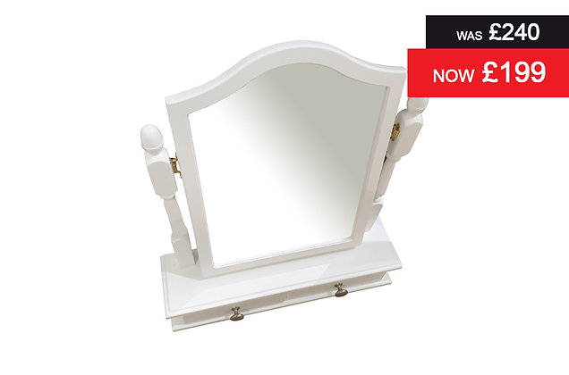 Nicole Dressing Table Gallery Mirror - White