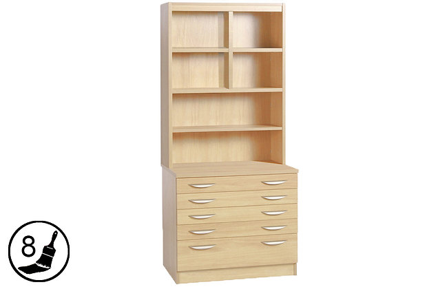 R White B-ARD-OF – Chest with Deep Lower Drawer with Hutch