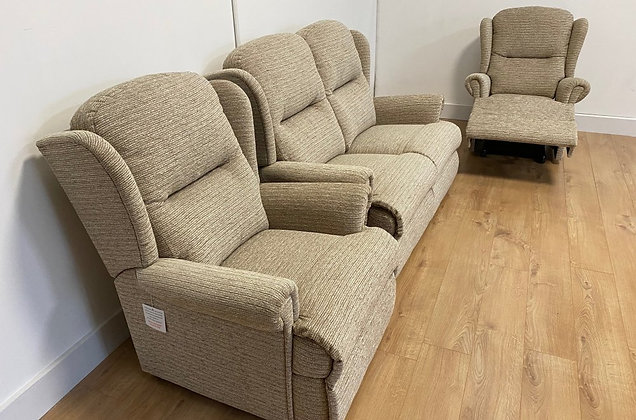 Monty 2 Seater, Fixed Armchair and Manual Recliner