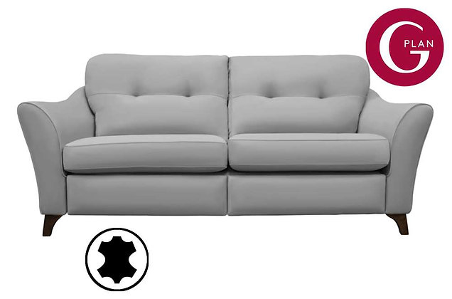G Plan Hatton Leather 3 Seater Pillow Back Sofa