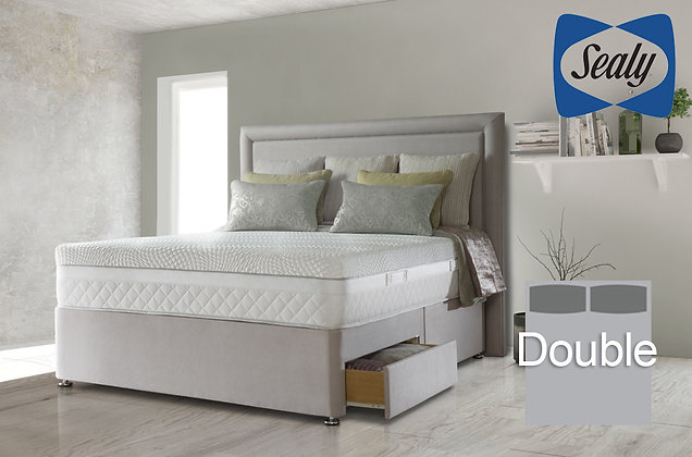Sealy Hybrid Pocket Serenity 1400 Double Divan Bed