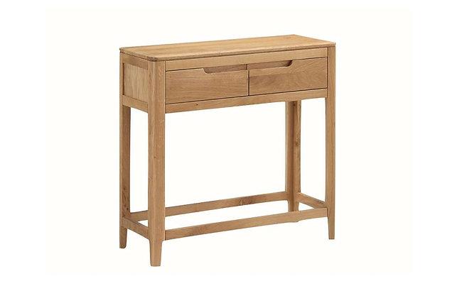 Demure Oak Large Console Table