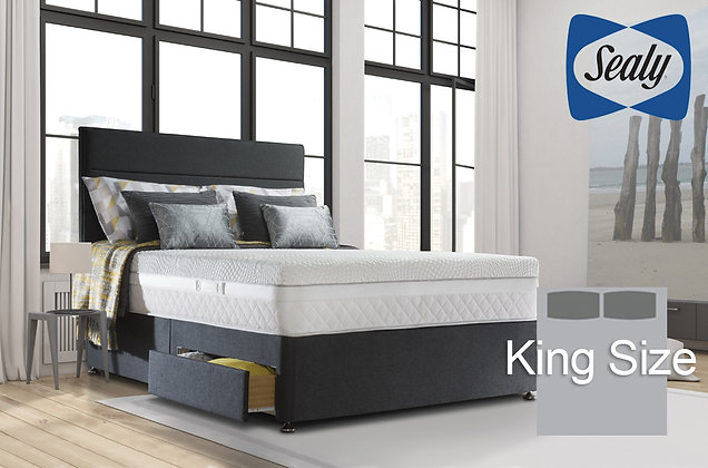 Sealy Hybrid Pocket Perfection 2200 King Size Divan Bed