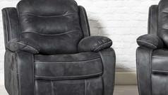 Dakota 'Leather Look' Fabric Recliner Armchair