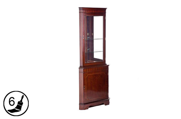Simply Classical Corner Display Cabinet