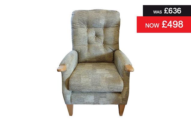 Cintique Farley Petite Chair - Patchwork Fennel