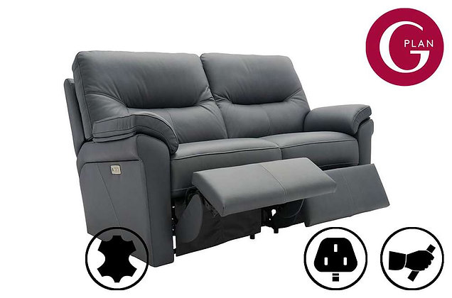 G Plan Seattle Leather 2 Seater Recliner Sofa