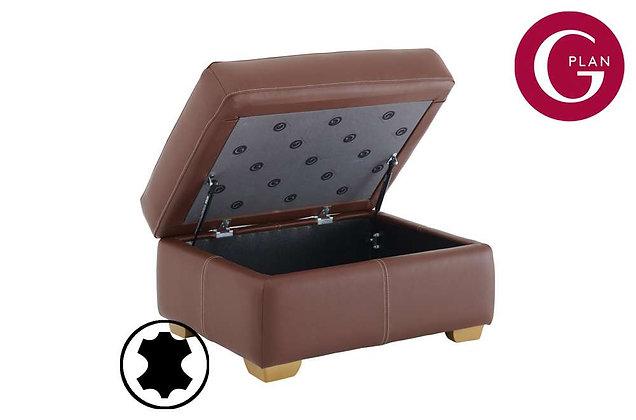 G Plan Chadwick Leather Storage Footstool