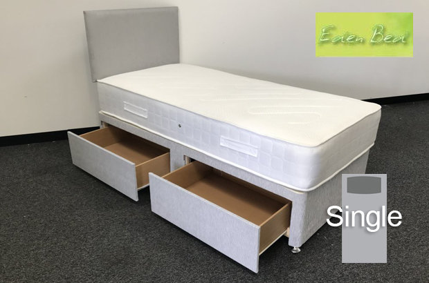Eden Beds Orthopaedic Extra Firm Single 2 Drawer Divan