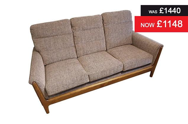 Cintique Lydia 3 Seater Sofa - Kilburn Plum