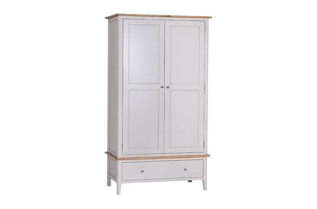 Bembridge Painted 2 Door, 1 Drawer Wardrobe