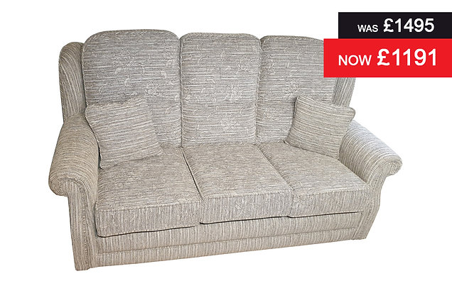 Cannes 3 Seater Sofa - Floral Pewter