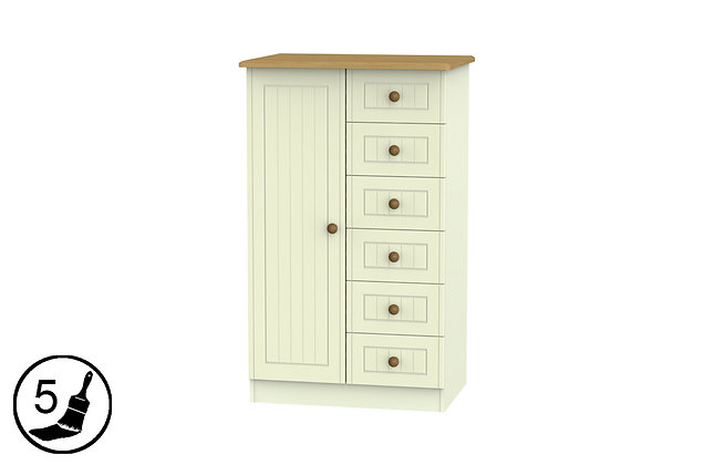 Solent Child's Wardrobe with 6 Drawers