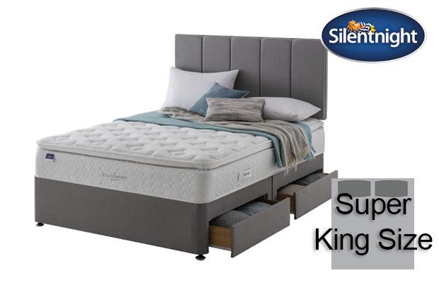 Silentnight Miracoil Laila Eco Comfort Pillow Top Super King Size Divan Bed