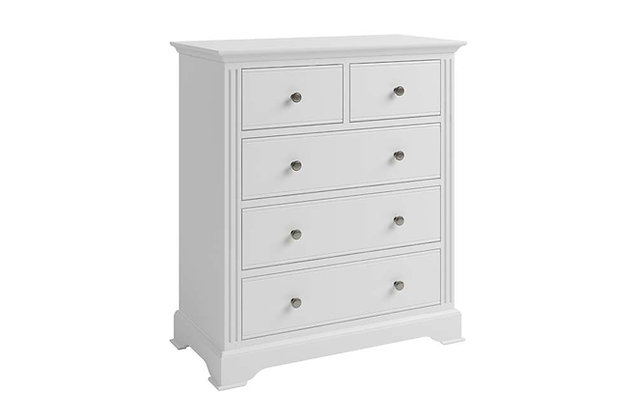 Polar White 2 Over 3 Drawer Chest