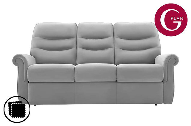G Plan Holmes Leather Small 3 Seater Sofa