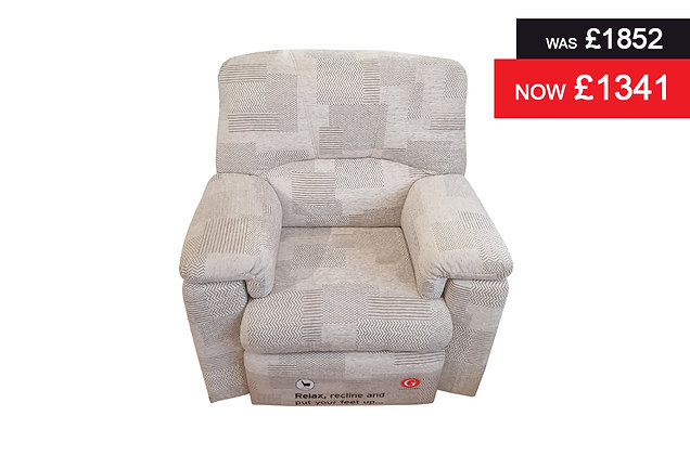 G Plan Chloe Power Action Recliner Chair - Checkers Putty