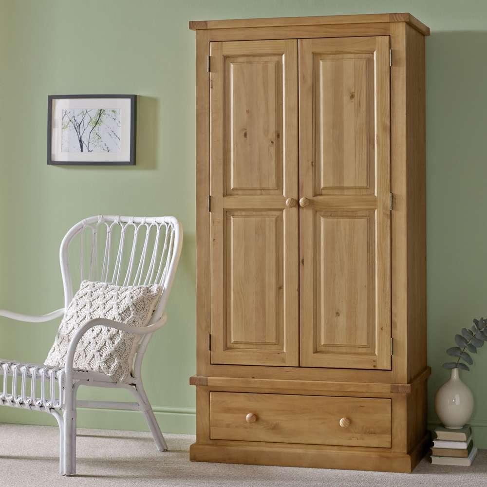Budget Pine 2 Door Wardrobe
