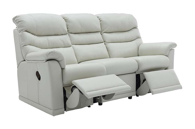 G Plan Malvern Leather Double 3 Seater Recliner Sofa