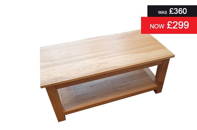 Charmwood Rectangular Coffee Table with Shelf