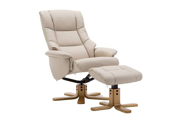 Florence Swivel Recliner Chair & Footstool