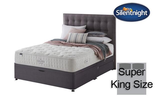 Silentnight Mirapocket Pastel Geltex 1000 Super King Size Divan Bed