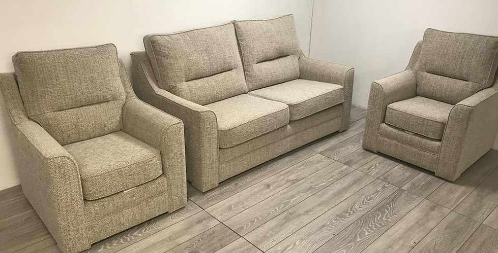 Athena 3 Seater Fabric Sofa & 2 Fabric Armchairs