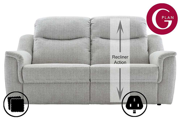 G Plan Firth 3 Seater Single Power Recliner Sofa (Right Hand Facing)