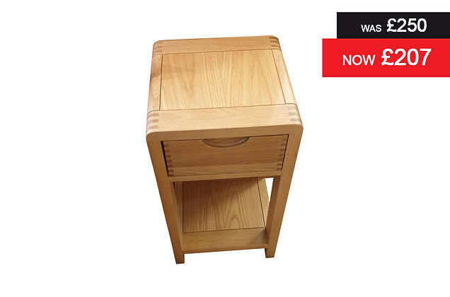 Ercol 1313 Bosco Compact Single Drawer Bedside Chest