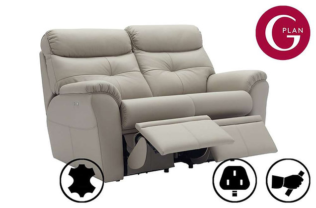 G Plan Newton Leather 2 Seater Double Recliner Sofa