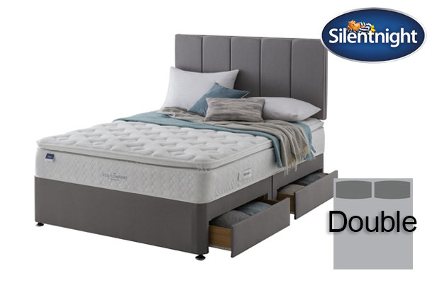 Silentnight Miracoil Laila Eco Comfort Pillow Top Double Divan Bed