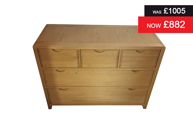 Ercol Bosco 5 Drawer Low Wide Chest